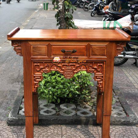 Bàn Thờ Phật-Gia Tiên Gõ Đỏ 1 tầng 1m07