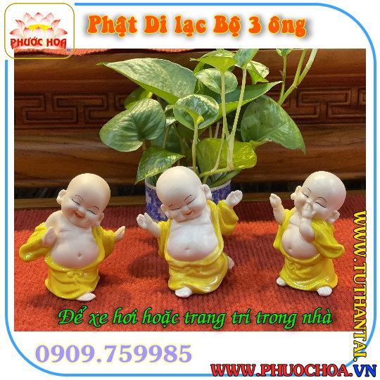 Phật Di Lạc bộ 3 tượng